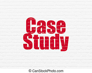 Studying concept: Case Study on wall background