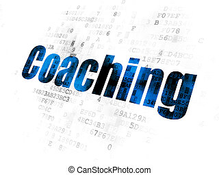 Studying concept: Coaching on Digital background