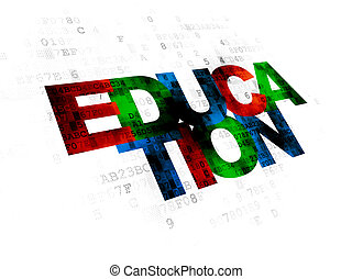 Studying concept: Education on Digital background