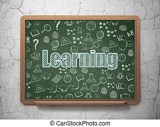 Studying concept: Learning on School board background