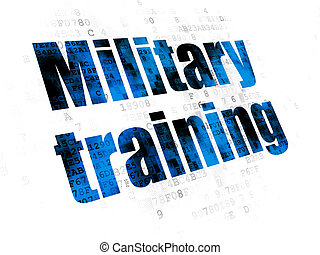 Studying concept: Military Training on Digital background
