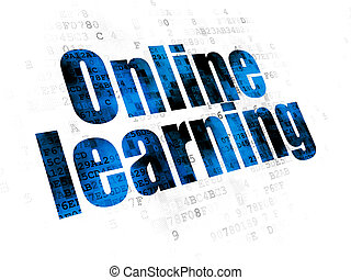Studying concept: Online Learning on Digital background