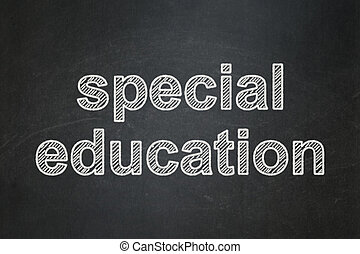 Studying concept: Special Education on chalkboard background