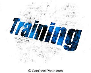 Studying concept: Training on Digital background