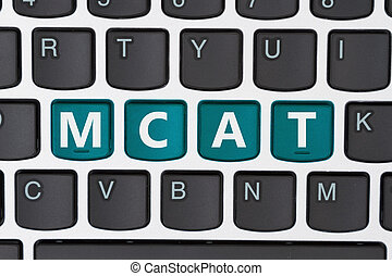 Studying for your MCAT online, A close-up of a keyboard with...