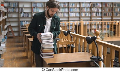 Studying Process in Library