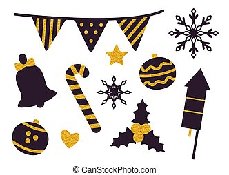 Stuff for Christmas Party Vector Illustration