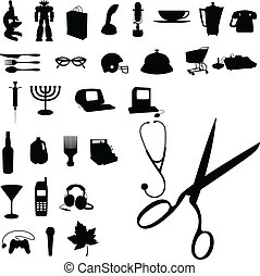 stuff home vector silhouettes