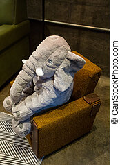 Stuffed Animal Elephant in Chair