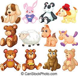 Stuffed animals - Illustration of many stuffed animals