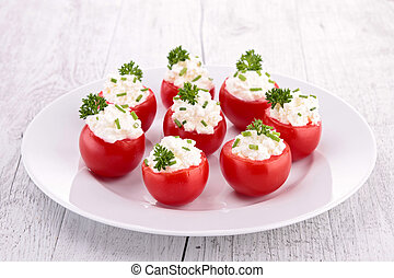 stuffed cherry tomatoes with cheese