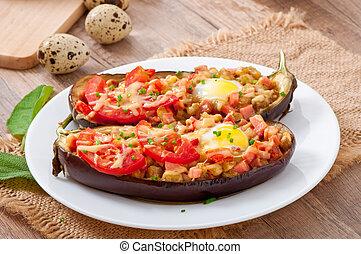 Stuffed Eggplant oven baked