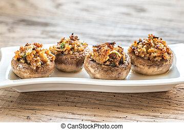 Stuffed mushrooms caps