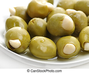 Stuffed Olives - Green Olives Stuffed With Almonds