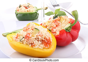 stuffed pepper with couscous