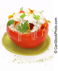 stuffed tomato appetizer