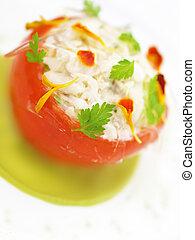 stuffed tomato appetizer