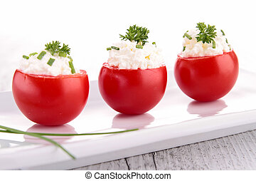 stuffed tomato with cheese