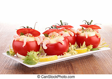 stuffed tomato with shrimp