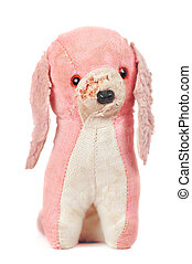 stuffed toy dog - well loved stuffed toy dog, but could have...