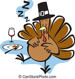 Stuffed Turkey - Vector Illustration of a turkey stuffed on ...