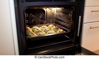 stuffed zucchini - HD1080: Cooking of stuffed zucchini in...