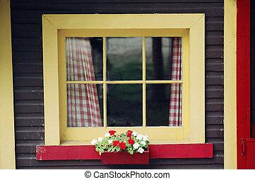 stuga, fönster
