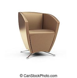 stuhl, modern, weißes, gegen