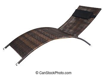 stuhl, weißes, freigestellt, hintergrund, deck
