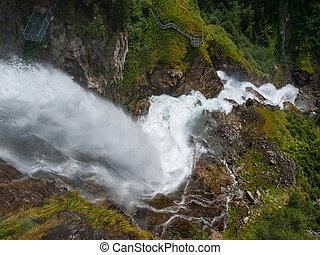 Stuibenfall in Oetztal Alps (Tirol, Austria)