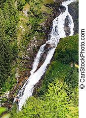 Stuibenfall - the lagest waterfall in Tirol, Austria