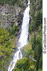 Stuibenfall waterfall in Austria
