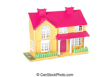 stuk speelgoed huis, roze