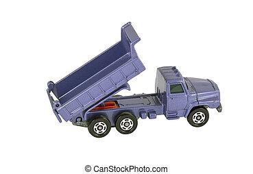 stuk speelgoed vrachtwagen