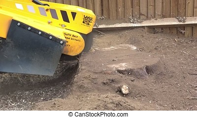 Stump Grinding machine audio - Sound of a stump grinding...