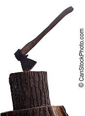Stump with axe