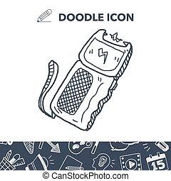 stun gun doodle