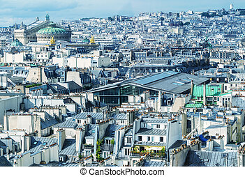 Stunning aerial view of Paris on a summer day