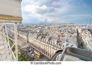 Stunning aerial view of Paris