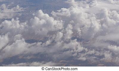 Stunning beauty floats over desert mountain landscape. Top...