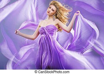 Stunning blonde like purple princess - Stunning blonde lady...