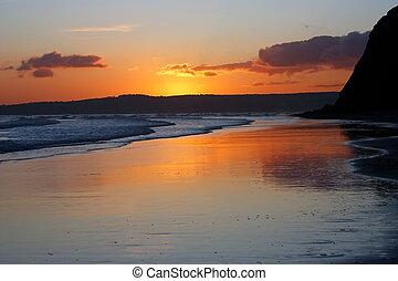 Stunning summer Devon sunset.