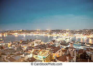 Stunning Istanbul night skyline