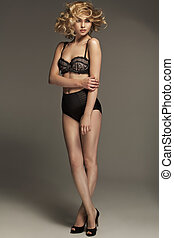 Stunning lady wearing sensual lingerie - Stunning woman...