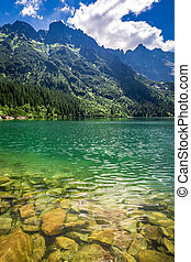 Stunning lake in the mountains, Poland, Europe
