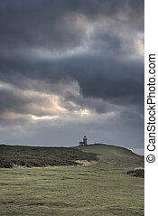 Stunning landscape image of Belle Tout lighthouse on South...