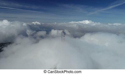 Stunning mountain winter landscape of Stirovnik peak with...