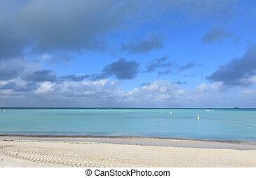 Stunning photo of palm beach in aruba