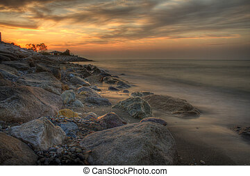 stunning seascape at sunset