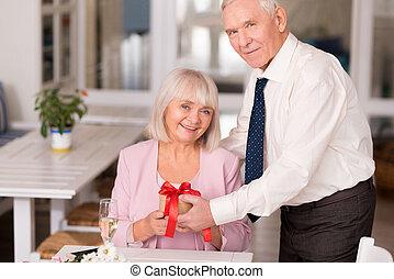 Stunning senior couple posing together